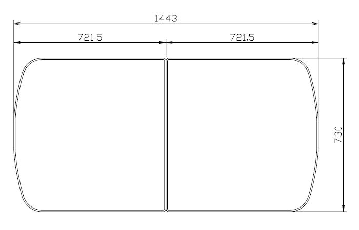 タカラスタンダード 組み合わせ式風呂フタ(2枚組) フロフタMDH-16WT 【品番:10193724】●