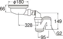 SANEI 流し台薄型トラップ 【品番:H6562S】