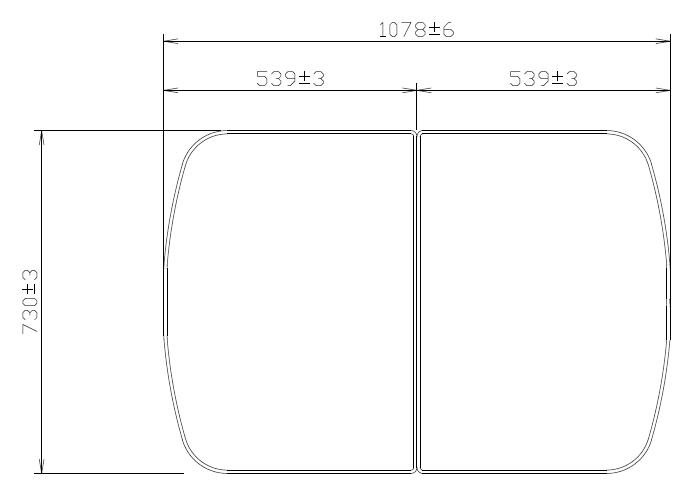 タカラスタンダード 組み合わせ式風呂フタ(2枚組) フロフタMDH-12WT 【品番:10193725】●