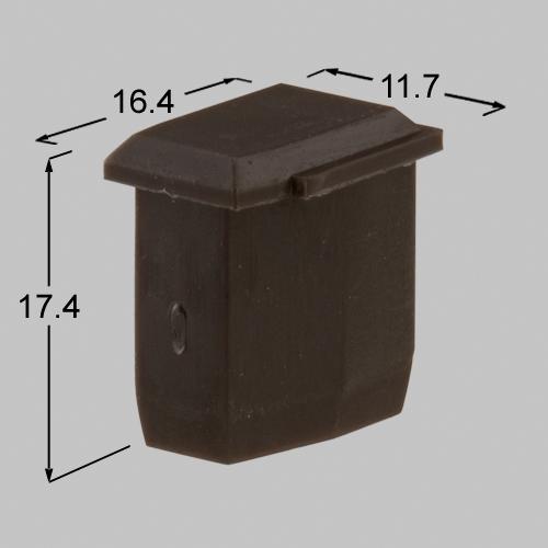 【在庫処分】【メール便対応】LIXIL(TOEX) アルミトンガ1型アルミエリス3型小桟キャップ マイルドブラック 【品番:BBG05010A】