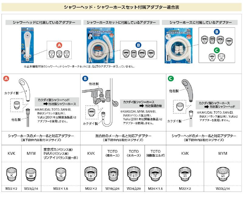 カクダイ リラックスシャワー ホワイト 【品番:356-900-W】