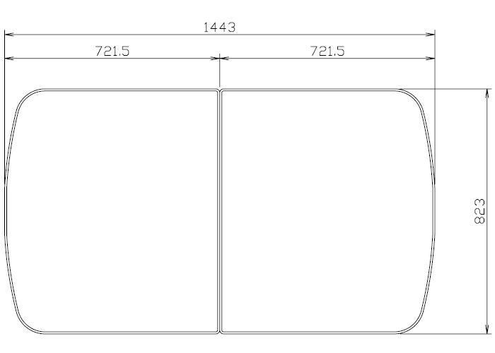 タカラスタンダード 組み合わせ式風呂フタ(2枚組) フロフタMDH -20WT 【品番:10193723】●