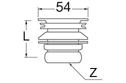 SANEI 丸鉢排水栓 【品番:PH31-25】