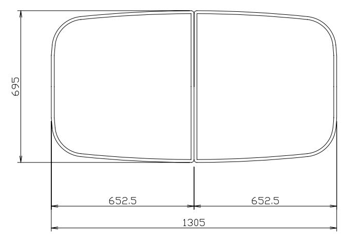 タカラスタンダード 組み合わせ式風呂フタ(2枚組) M-UCB16 W 【品番:10190622】●