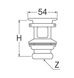 SANEI 横穴排水栓 【品番:PH33-25】