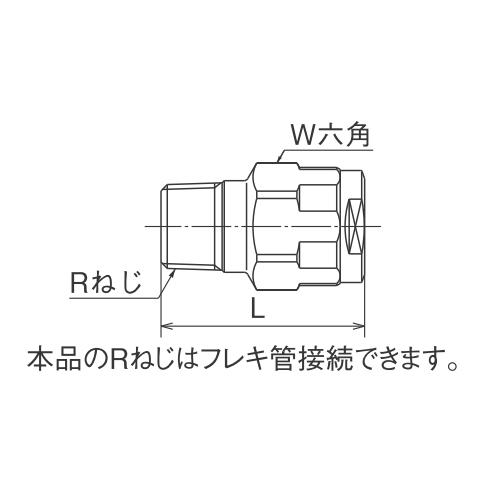 オンダ ダブルロックジョイント(WJ型) WJ1型 テーパおねじ 【品番:WJ1A-2020C-S】