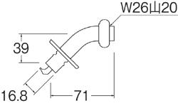 SANEI 洗濯機用L型ニップル 【品番:PY121-4TVX-16】◯■