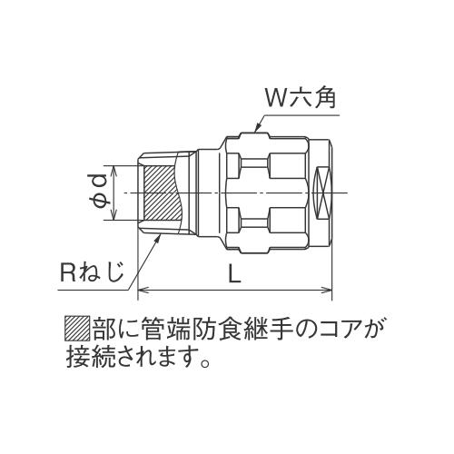 オンダ ダブルロックジョイント(WJ型) WJ44型 テーパおねじ(管端コア対応) 【品番:WJ44A-1316C-S】