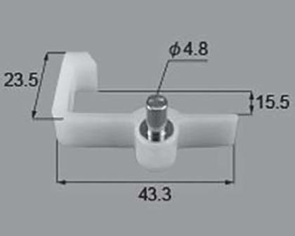 【メール便対応】LIXIL(トステム) L型棚受けダボ T15用 【品番:QRP265L】