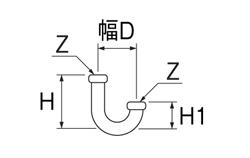 SANEI U管 【品番:H70-67-38】