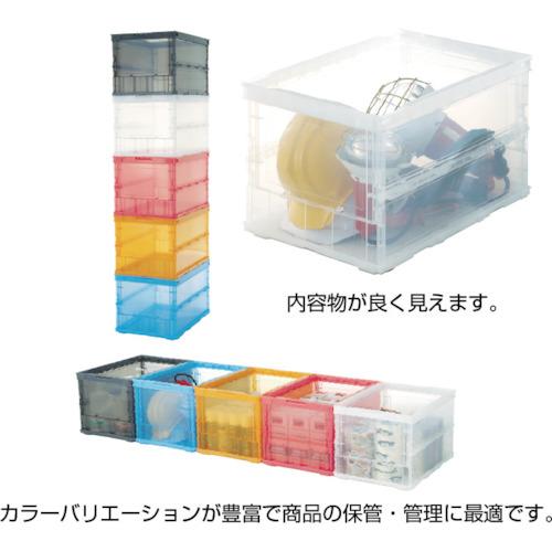 トラスコ中山(TRUSCO) 薄型折りたたみコンテナスケル 50L 透明 【品番:TSK-O50B(TM)】