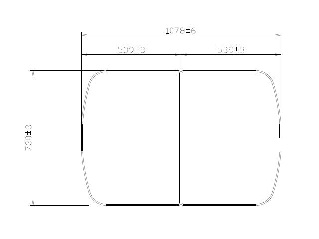 タカラスタンダード 組み合わせ式風呂フタ(2枚組) フロフタMDH -12WK 【品番:41247162】●