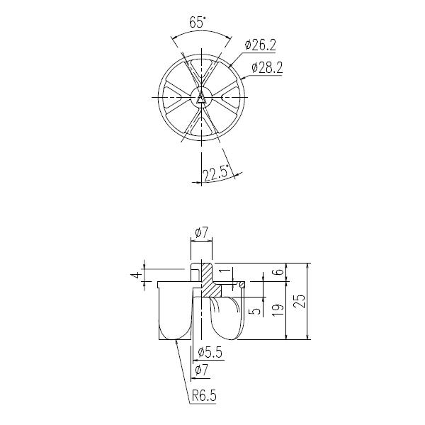 【メール便対応】LIXIL(INAX) 排水コア 【品番:PBF-5H-C4】