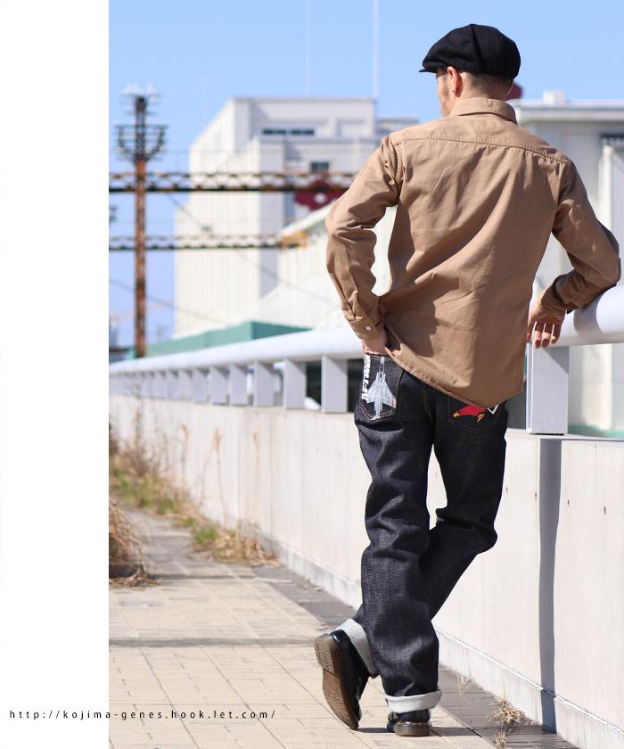 自衛隊機【ファントム�】21ozコラボジーンズ