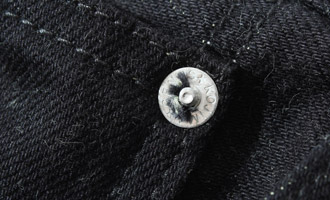 13oz ブラックケブラーミックスデニムストレートジーンズ
