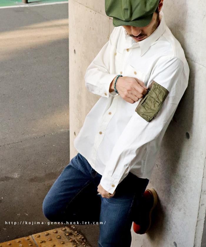 MA-1ポケットシャツ ホワイト