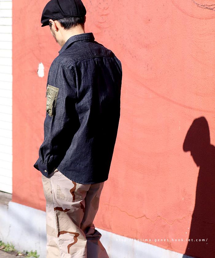 MA-1ポケットデニムシャツ