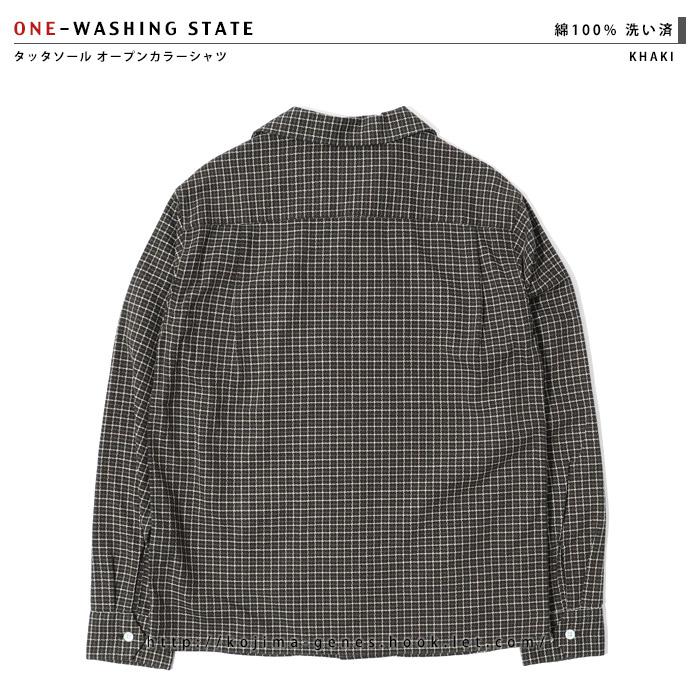 タッタソールチェックオープンカラーシャツ