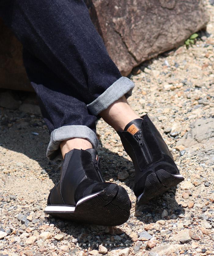 ハイカット足袋スニーカー ブラック