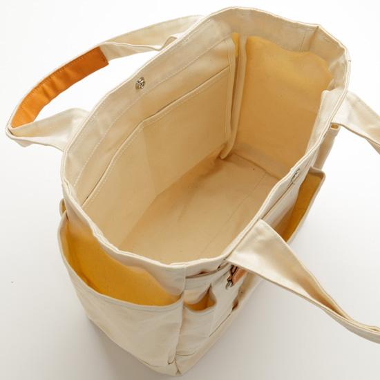grabe[グレーブ]アーミーダック×瀬戸内レザー ポケットが沢山のガーデントート