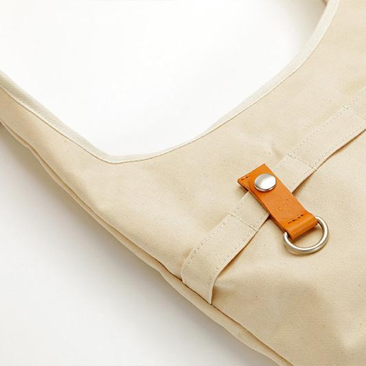 noob[ノーブ] アーミーダック×瀬戸内レザー 肩掛けショッピングバッグ