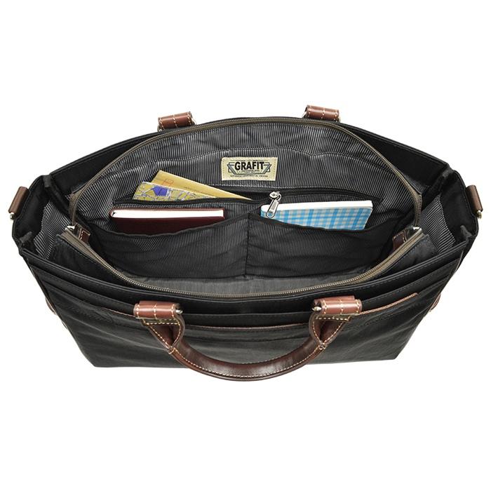 ビジネスバッグ トートバッグ メンズ B4 タブレット 大容量 消臭 抗菌 ナイロン ショルダーベルト付き 通勤 黒 カーキ 紺 KBN26661 グラフィット GRAFIT 送料無料