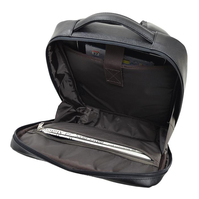 リュック デイパック メンズ A4ファイル 軽量 大開き シンプル フォーマル 角シボ KBN42552 ハミルトン HAMILTON