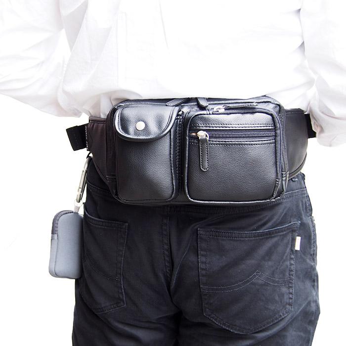 ウエストバッグ ウエストポーチ メンズ ソフト 多用途ポケット付き KBN25718 アンディハワード ANDY HAWARD