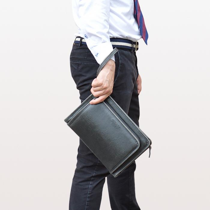 セカンドポーチ セカンドバッグ 日本製 豊岡製鞄 メンズ A5 大開き 街持ち 小さめ 黒 キャメル KBN25895 ブレリアス BRELIOUS