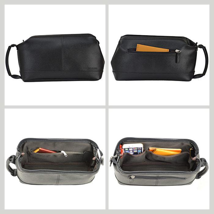 セカンドバッグ メンズ A5 軽量 シンプル フォーマル 角シボ KBN25870 ハミルトン HAMILTON