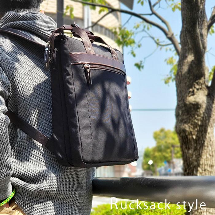 トート リュック トートリュック B4 メンズ タブレット対応 2層 スリム ツイルナイロン 縦型 黒 カーキ 紺 ワイン KBN42568 グラフィット GRAFIT 送料無料