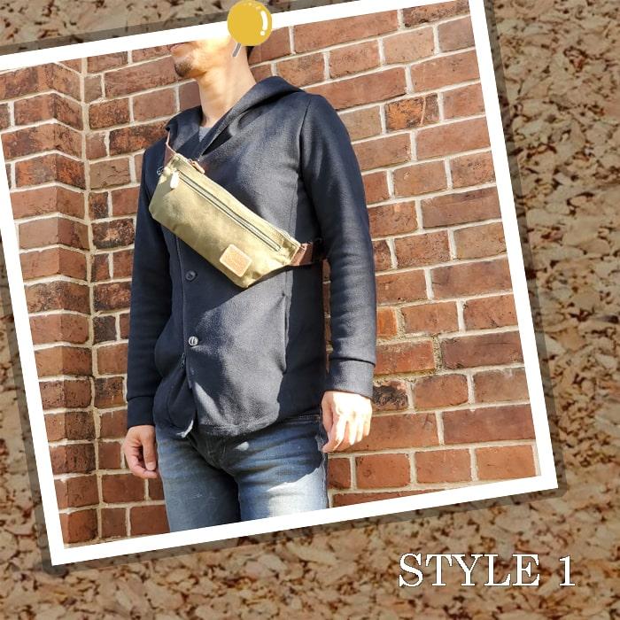 ワンショルダーバッグ ウエストバッグ 日本製 豊岡製鞄 メンズ レディース アーミーダック ヴィンテージ 休日 旅行 カーキ 紺 KBN25904 ピスタッシュ Pistache