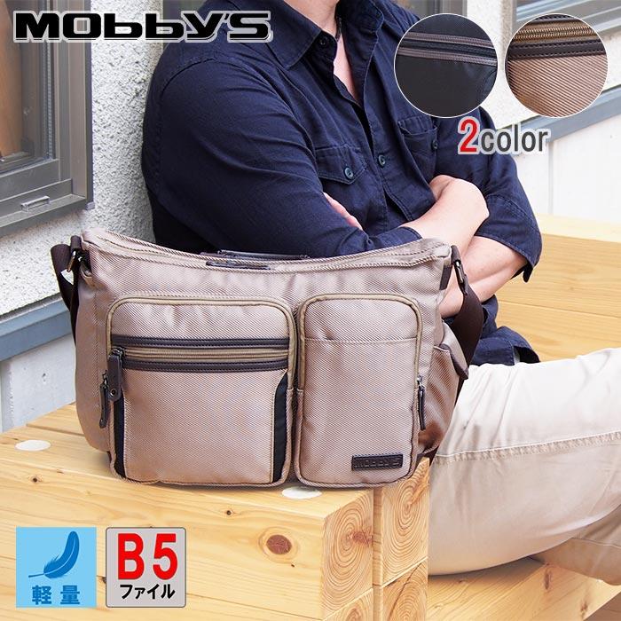 ショルダーバッグ メンズ レディース B5ファイル 軽量 KBN33678 モビーズ MOBBY'S