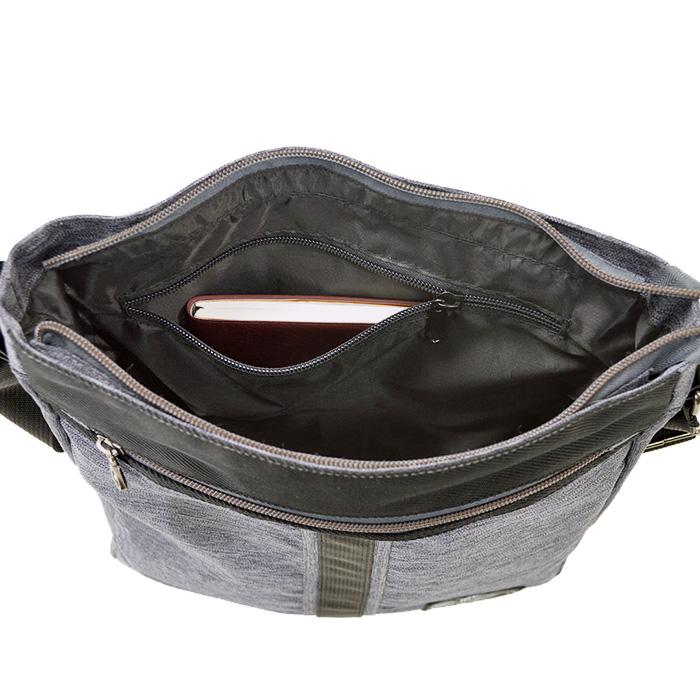 ショルダーバッグ メンズ レディース A4 ポリエスター シック 買い物 普段用 旅行 観光 通勤 紺 グレー KBN33698 モビーズ MOBBY'S