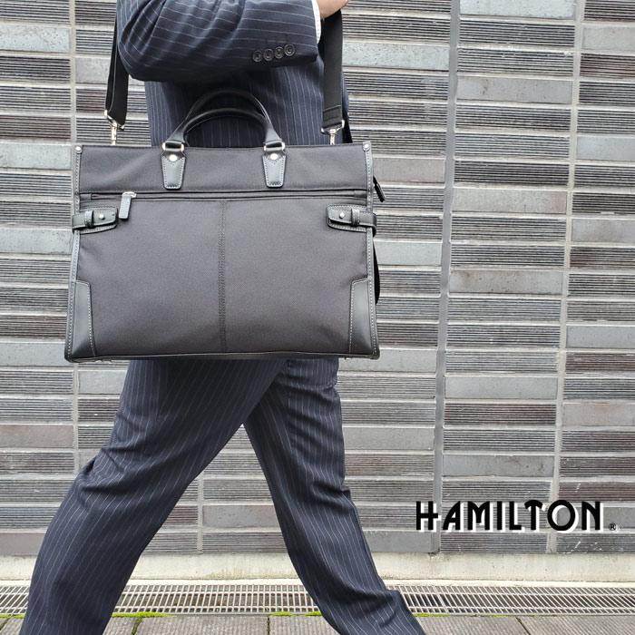ビジネスバッグ メンズ B4ファイル リクルート 太番手ビジネス KBN26578 ハミルトン HAMILTON