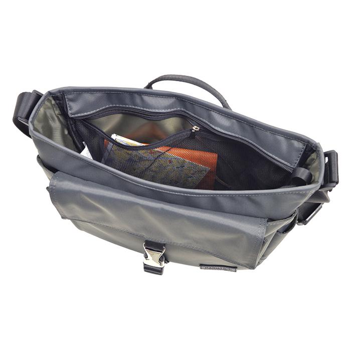 【50%セール対象商品】 ショルダーバッグ メンズ B5 ナイロン キャリーバー通し ボトルホルダー 旅行 通勤 黒 カーキ KBN33718 ハミルトン HAMILTON