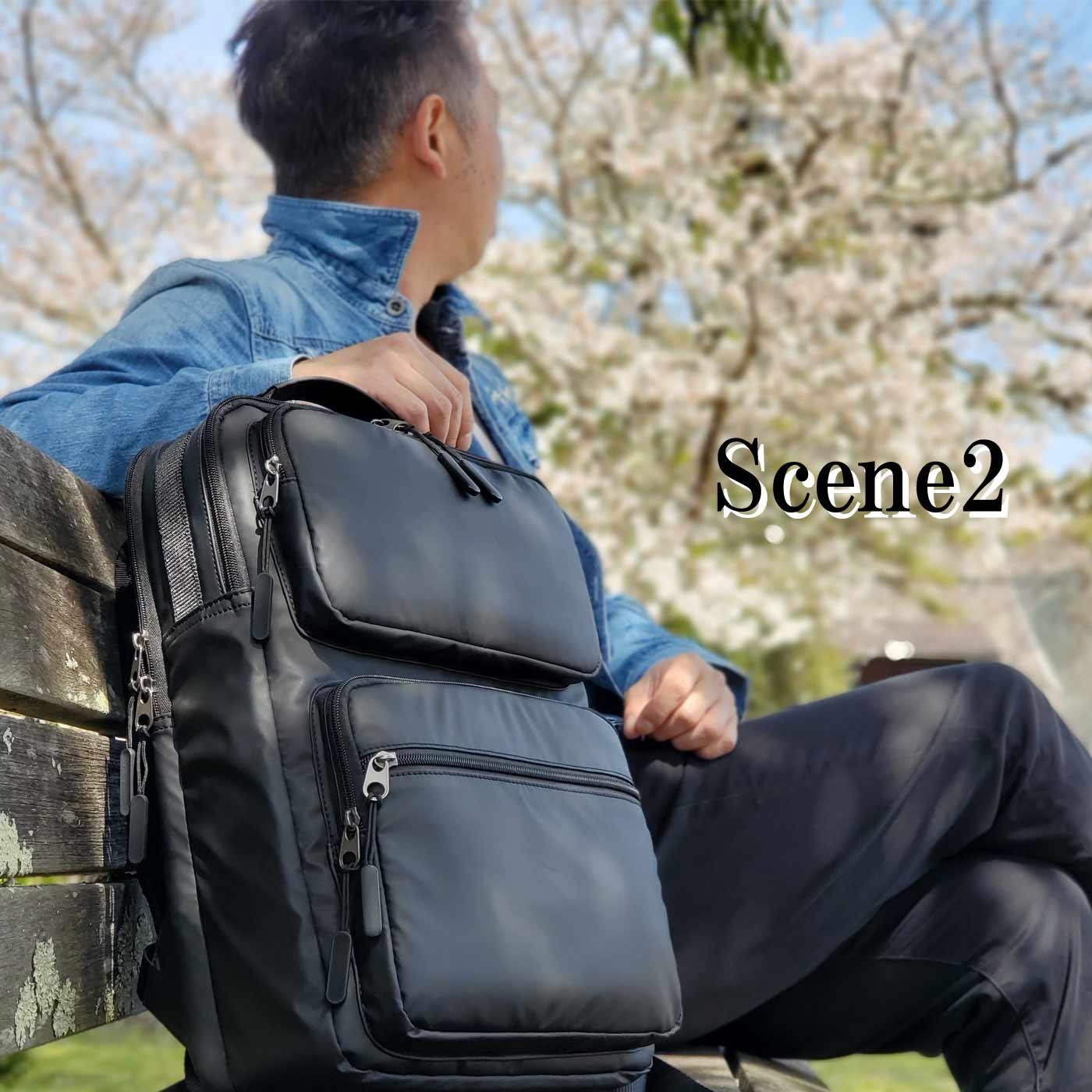 リュック デイパック カジュアルバッグ メンズ B4 2室 軽い ipad タブレット収納 ナイロン 街持ち 普段使い 旅行 レジャー 黒 KBN42577 ブレザークラブ BLAZER CLUB