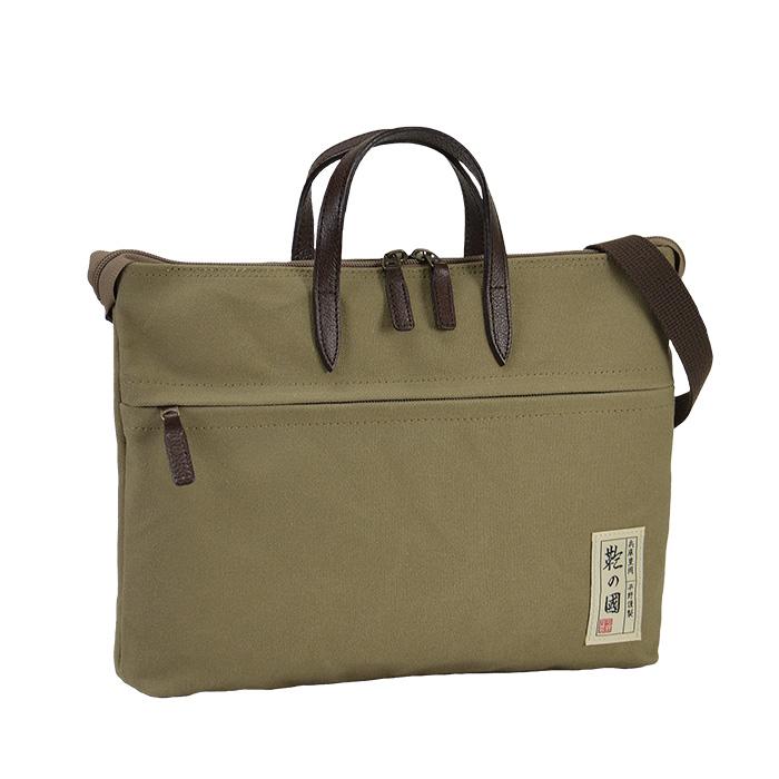 トートバッグ ショルダーバッグ 日本製 豊岡製鞄 メンズ レディース A4ファイル 横型 帆布 撥水 旅行 街持ち カーキ 紺 ベージュ KBN26676 鞄の國