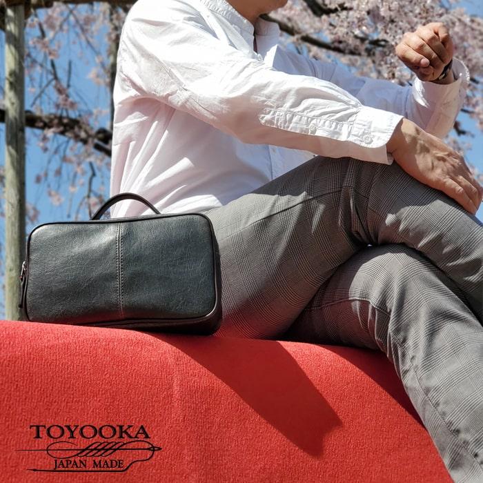 セカンドバッグ セカンドポーチ 日本製 豊岡製鞄 メンズ レトロ調 2WAY KBN25814 アンディハワード ANDY HAWARD