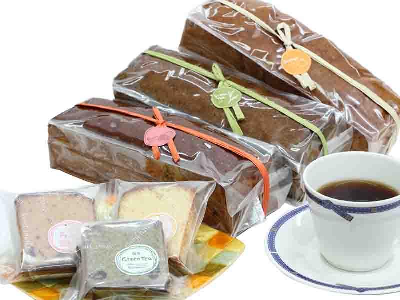 ガトー・オ・ブール<こだわり3種-フルーツ・抹茶・オレンジ->パティシエ手作りバターケーキ