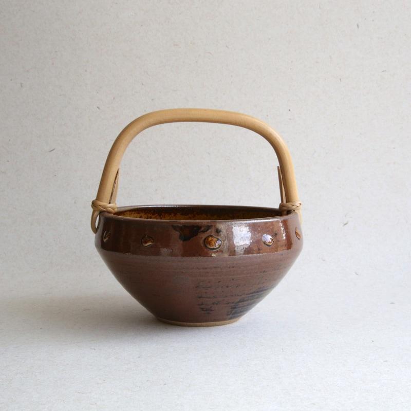 太田哲三窯・手付き鉢
