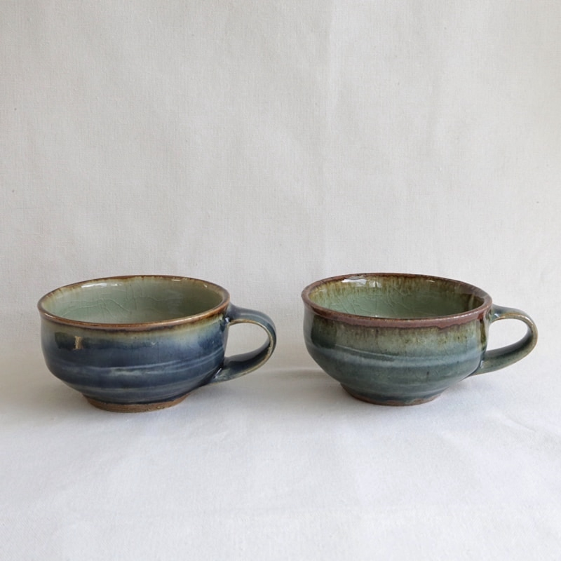 森山窯・呉須釉スープカップ