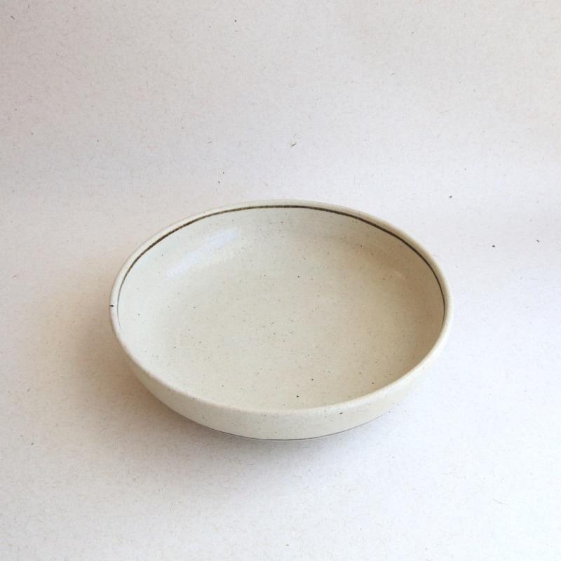 カネダイ陶器・白釉鉄線紋7寸切立鉢