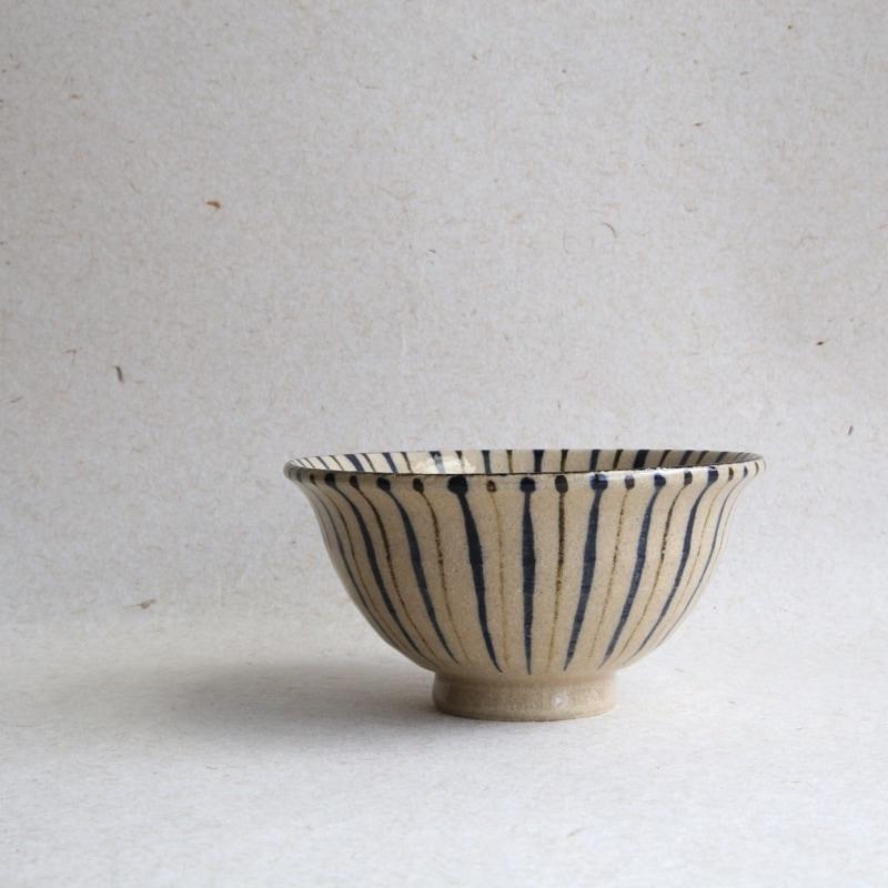 小春花製陶・十草4寸飯碗(呉須)