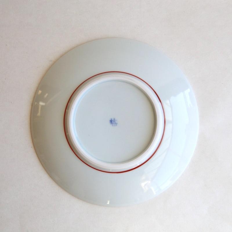 砥部焼・梅山窯 太陽紋6寸皿