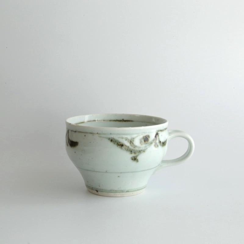 砥部焼・中田窯 鉄絵スープカップ