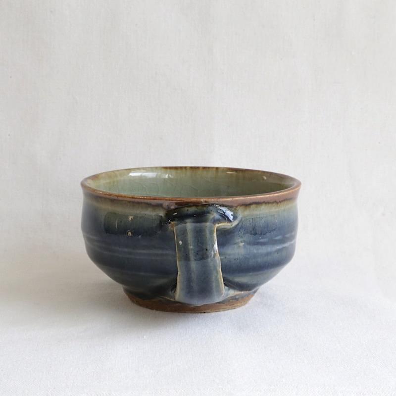 森山窯・瑠璃釉スープカップ
