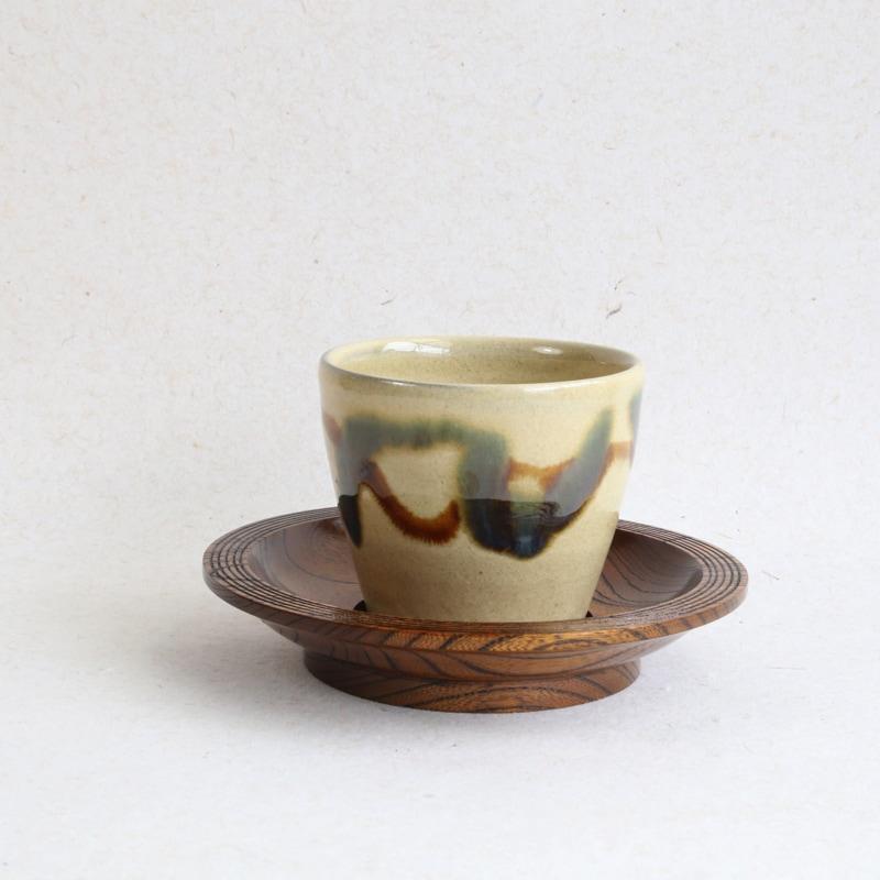 森山ロクロ工作所・縁線描4.5寸茶托