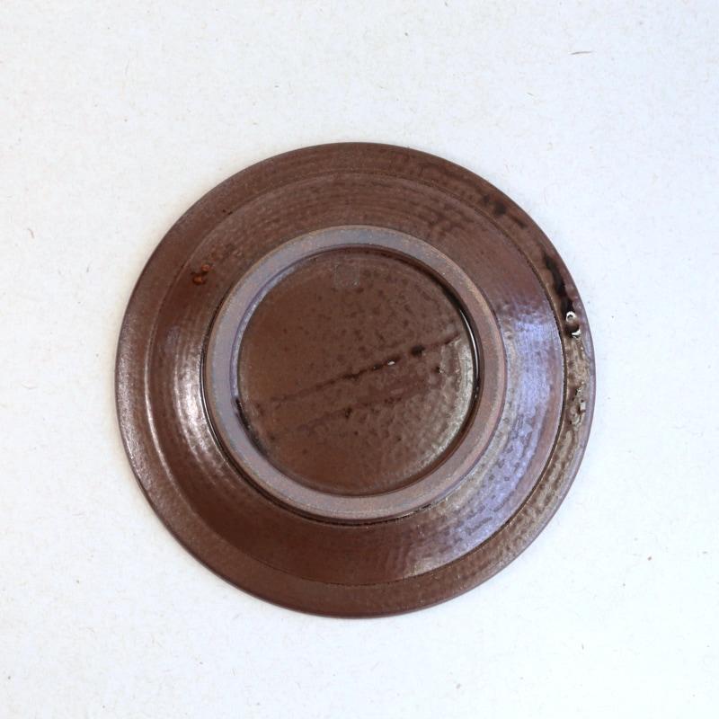 太田哲三窯・縁焼締6.5寸皿(黄)