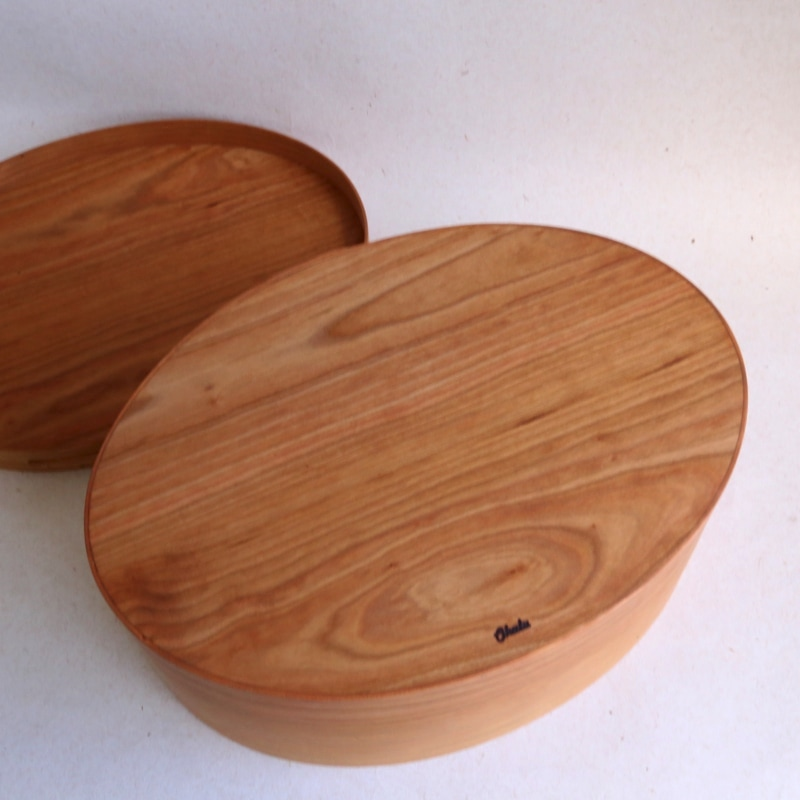 Okalu Oval Box(チェリー) L